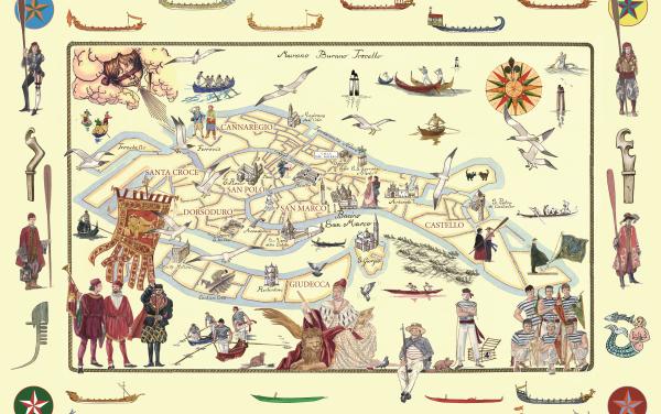 Mappa della Regata Storica